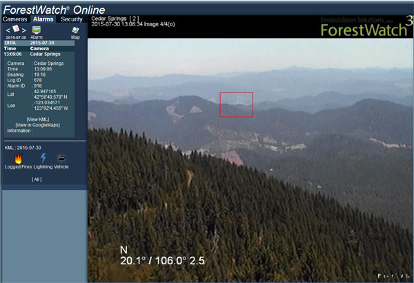 Forest watch forest camera - EnviroVision Solutions ForestWatch Wildfire Detection and Environmental Monitoring System